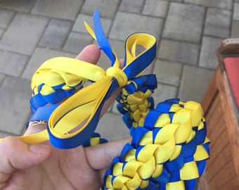 Warriors Graduation Lei , Blue Graduation Lei , Yellow Lei , Sports Lei ,  Hawaiian Lei , Ribbon lei, Graduation Lei , Senior Graduation Lei