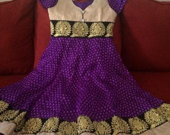 Anarkali Indian Bollywood Long  Dress kurta kurti Tunic Top Dress