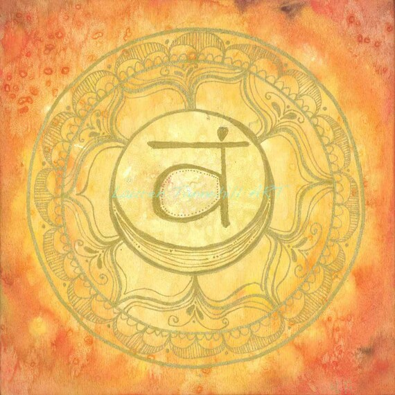 8X8 Sacral Chakra Mandala Print by Lauren Tannehill ART