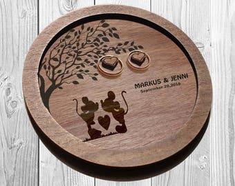 DISNEY Wedding ring holder, Rustic Ring dish, Disney Wood ring dish,  DISNEY wedding, Rustic Wood ring holder, personalized Wedding decor