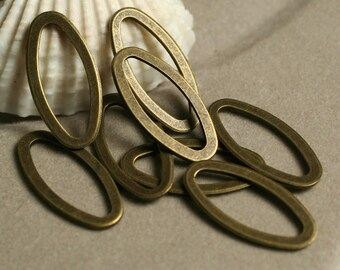 Antique brass thick oval link 23x11mm, 10 pcs (item ID YWABXW00327)