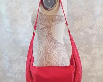Hobo Bag - Red Hearts