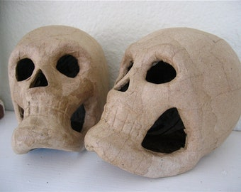 2 Paper Mache Skulls for your Crafting Projects-  Have fun creating something for your altar