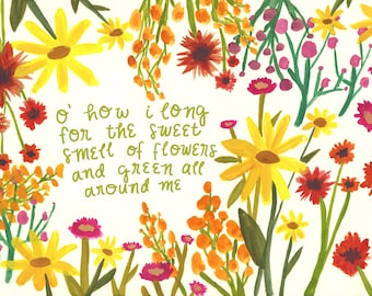 Longing For Spring Illustrated Print