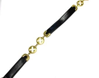 Black And Gold Belt Metal