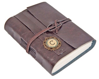Faux Leather Journal with Lined Paper,  Choice of Colors, Personalized , Customize, Vegan Journal, Travel Diary, Graduation Gift, For Her