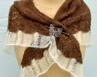 Knitting Pattern Lace Shawl Text Direction Plus Charted Directions Instant PDF Download Easy Quick to Knit Pattern Gift Idea