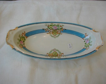 Very nice Noritake celery or relish dish 11 1/2 in. long and 5 1/2 in. wide Made in Japan