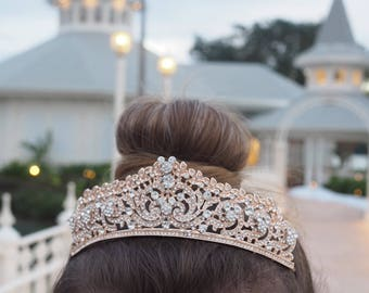Hidden Mickey Inspired Rose Gold Tiara perfect for Disney Wedding