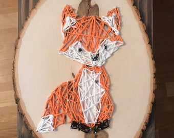 Woodland Fox String Portrait