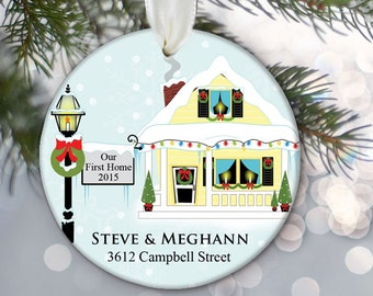 Our First Home Ornament Personalized First Home Christmas Ornament Housewarming Gift New Home Our First House 1st Home Couples name OR271