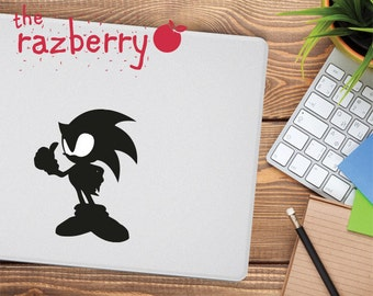 Sonic Macbook Decal Sonic Macbook Sticker Sonic the Hedgehog Macbook Decal Macbook Air Sticker Macbook Pro Vinyl Sonic Retro SEGA Decal