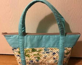 Quilted Multicolor Canvas Shoulder Bag