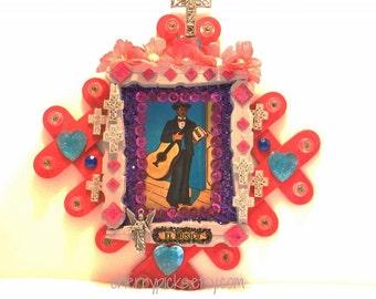 Mexican Loteria, Loteria El Musico, Mexican Wood Art, Mexican Folk Art, Loteria Decorations, Mexican Kitsch, Jazz Musician, Mixed Media Art