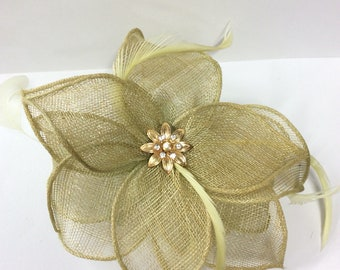 Sage  coloured fascinator hair comb