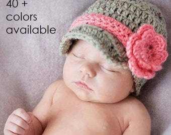 Newborn Baby Girl, Coming Home Hat, Crochet Hat, Flower Hat, Newborn Layette, Baby Outfits, Newborn Baby, Photo Prop, Winter hat, Baby Gifts