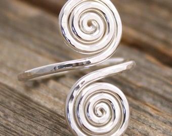 Double Spiral Snake Ring (Spiral Dance)