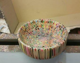 7 inch x 3 inch colour pencil bowl