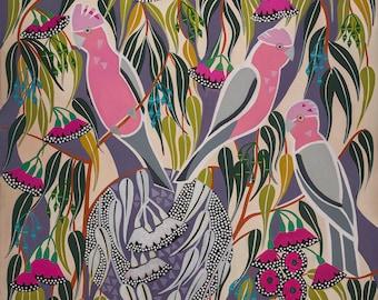 Pink and Grey Galah Paper Print