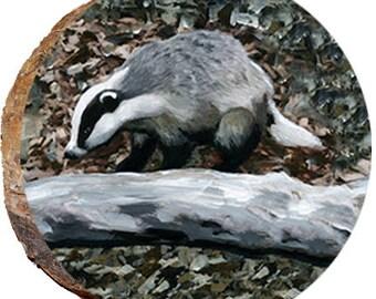 Badger on a Tree Limb - DAD061