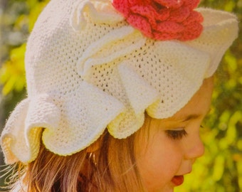 Childs cotton sun hat crochet pattern by Liz Ward