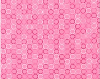 Spot On Pink by Robert Kaufman, Pink Polka Dots, Polka Dots Fabric, Robert Kaufman