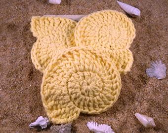 Face Scrubbies  / Crocheted, Cotton Scrubbies, Ego-friendly, Reusable pads, Makeup Remover, Facial Rounds, Makeup Pads, Handmade
