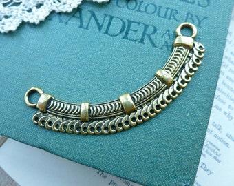 1x Connector Pendant, Antique Brass Necklace Pendant P107