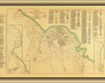 Poster, Many Sizes Available; Map Of Bar Harbor, Maine, 1904
