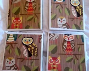 Owl Awesome Coaster Set
