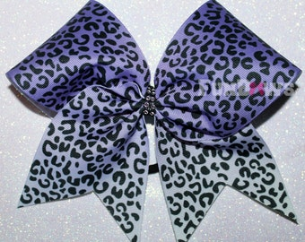 Purple Cheetah Print  Ombre Allstar Cheer Bow by FunBows !