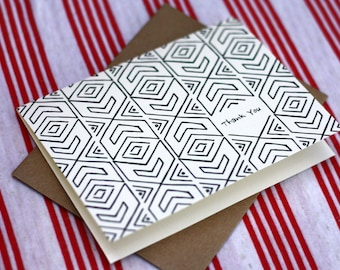 Tribal Notes #12 - A2 Printable Thank You Card (One Design)