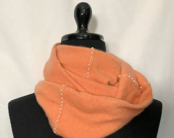 Infinity Cashmere Wool Scarf made from Soft Pumpkin  sweater