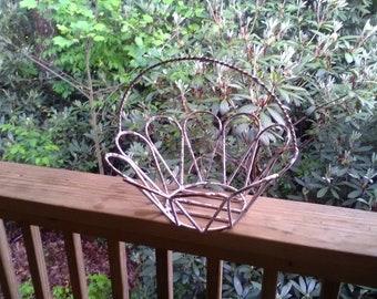 White iron basket