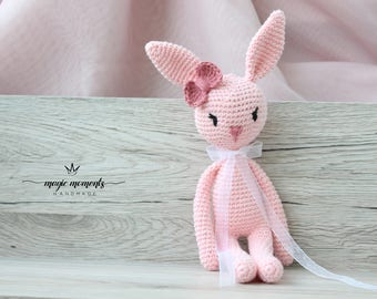 Amigurumi bunny, soft bunny stuffed animal, soft bunny, plush bunny, baby photo prop bunny, handmade soft toy bunny, amigurumi bunny animal