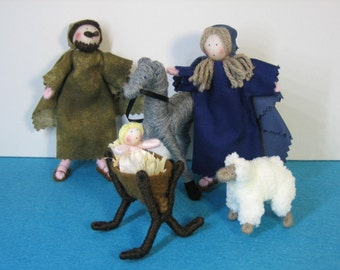 Nativity set of Handmade dolls