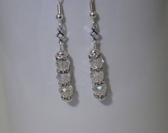Swarovski Crystal Earrings - Silver Plated - Available in Several Colors - Posts, Leverbacks or French Wires