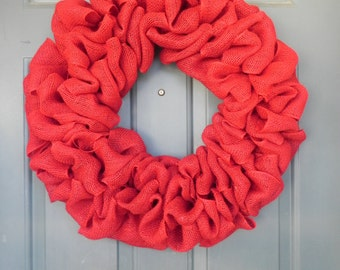 Burlap Wreath - X-Large 25 inch - Choose Your Burlap Wreath