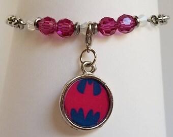 Batgirl/Batman charm bracelet