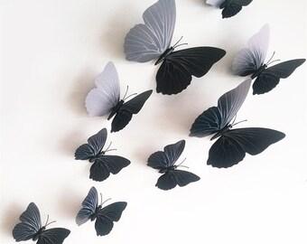 3D Butterflies stickers 12 pcs/lot Butterfly Wall Art, Butterfly Art, Butterfly Decoration butterfly Wedding 3d Wall Butterflies!