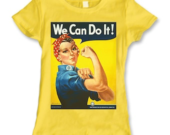 Rosie the Riveter We Can Do It Ladies T-Shirt