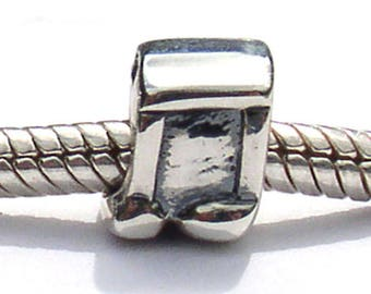 Music Notes Sterling Silver European Bead