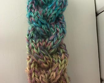 Cotton Candy Braided Cable Knit Earwarmer - Child to Adult