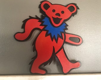 Handmade Grateful Dead Red Bear