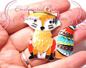 """2"""" Native American Fox Chunky Pendant, Keychain, Bookmark, Zipper Pull, Chunky Jewelry, Animal Jewelry, What Does The Fox Say"""