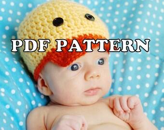 PDF PATTERN - Darling Duckie Crochet Hat