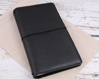 Sale: Handcrafted traveler's notebook regular size, READY TO SHIP