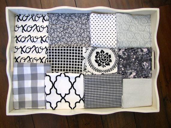 Girls Black, White & Grey 32x32 Minky Blanket Made to Order