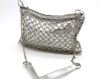 Silver Chain Shoulder Purse