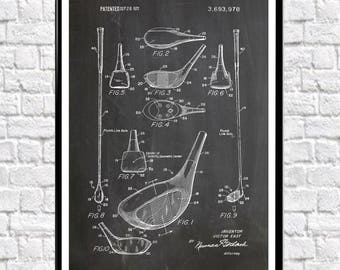 Golf Club Patent Print Golf Gift for Golfer Gift for Him Golf Course Wall Art Golf Club Poster Golf Poster Golf Print Golf Wall Art WB192